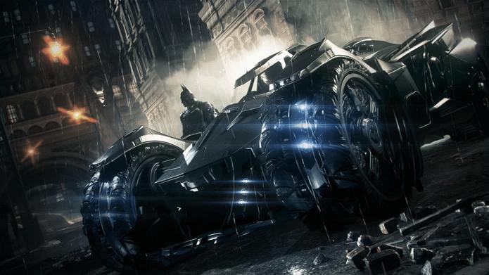 O Batmóvel de Batman: Arkham Knight (Foto: Divulgação)