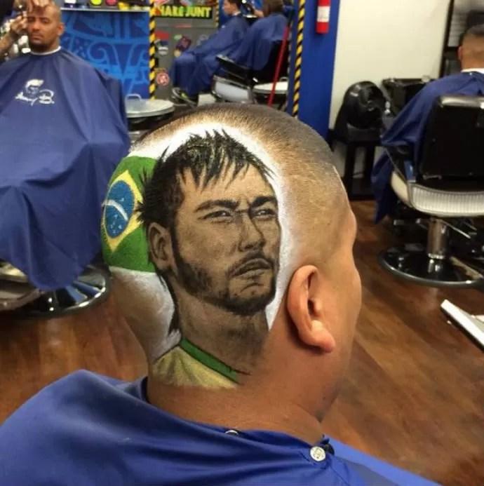 Barbeiro Dos EUA Desenha Rostos De Neymar Amp Cia Nas
