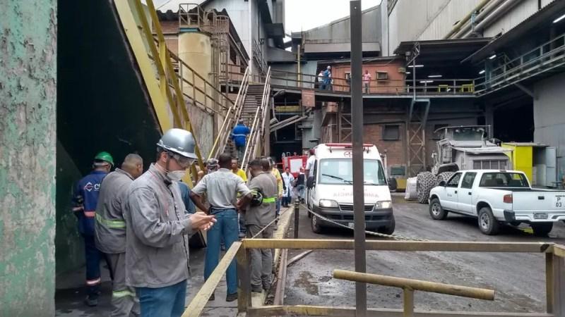 Acidente aconteceu no setor de Aciaria da CSN — Foto: Arquivo pessoal