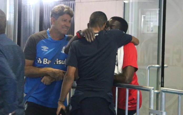 Renato reencontrou amigos do Fla em jogos deste ano — Foto: Eduardo Moura / GloboEsporte.com