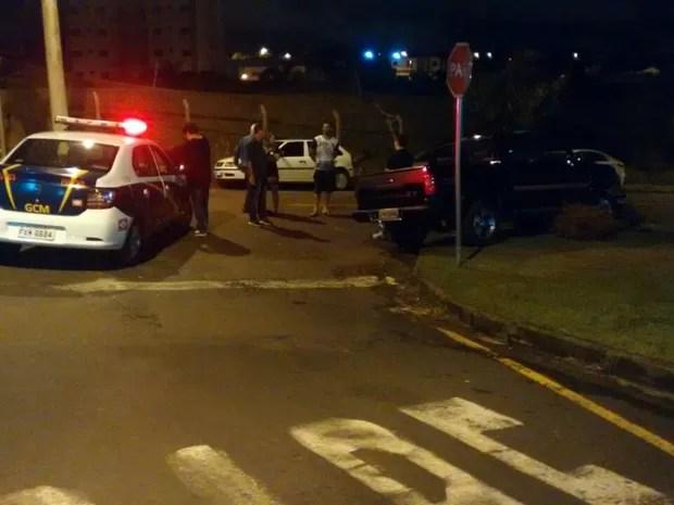 Guarda Municipal levou motorista para o plantão (Foto: Divulgação/Guarda Municipal)