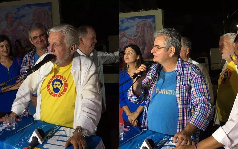 Jaques Wagner, PT, e Ângelo Coronel, PSD, são eleitos senadores pela Bahia — Foto: Montagem/G1
