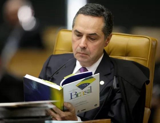 O ministro Luís Barroso em sessão plenária no STF  (Foto: Fellipe Sampaio/SCO/STF )