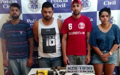 Quatros suspeitos foram presos na última segunda-feira (17) (Foto: Divulgação/Polícia Civil)
