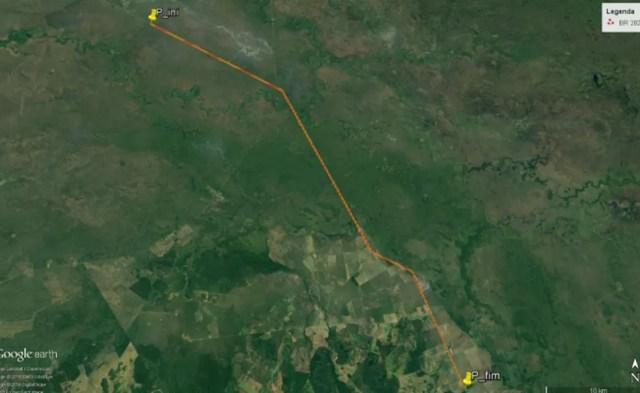 Trecho da área a ser monitorada para identificar a taxa de mortalidade de animais silvestres na BR 262 — Foto: Instituto Homem Pantaneiro/Divulgação