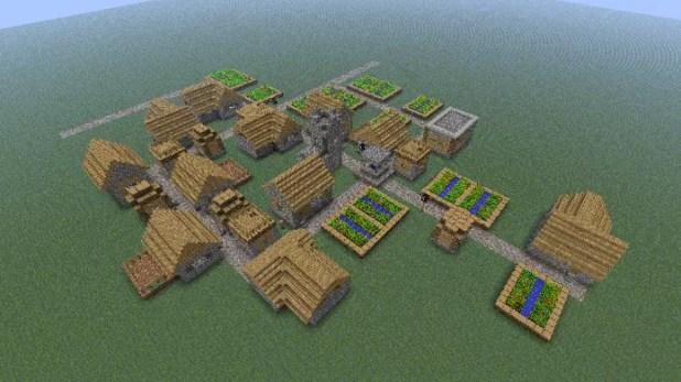 Em um mundo plano com poucos recursos sua única chance de sobreviver são as vilas (Foto: Reprodução/Minecraft Forum)