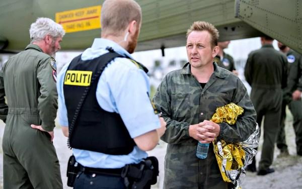 Peter Madsen foi trazido à terra na sexta-feira pela manhã (Foto: Scanpix Denmark/Bax Lindhardt/via Reuters)