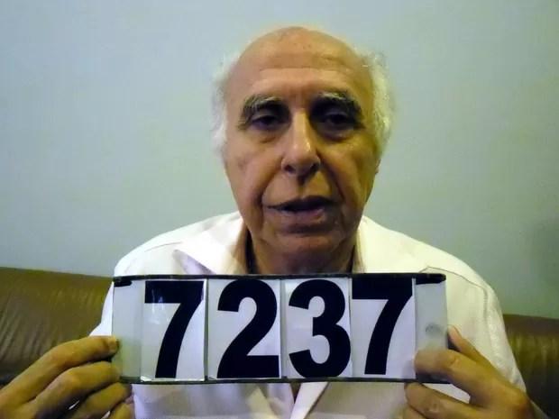 Roger Abdelmassih é fotografado pela Secretaria Nacional Antidrogas do Paraguai (Foto: Ho Senad/AFP)