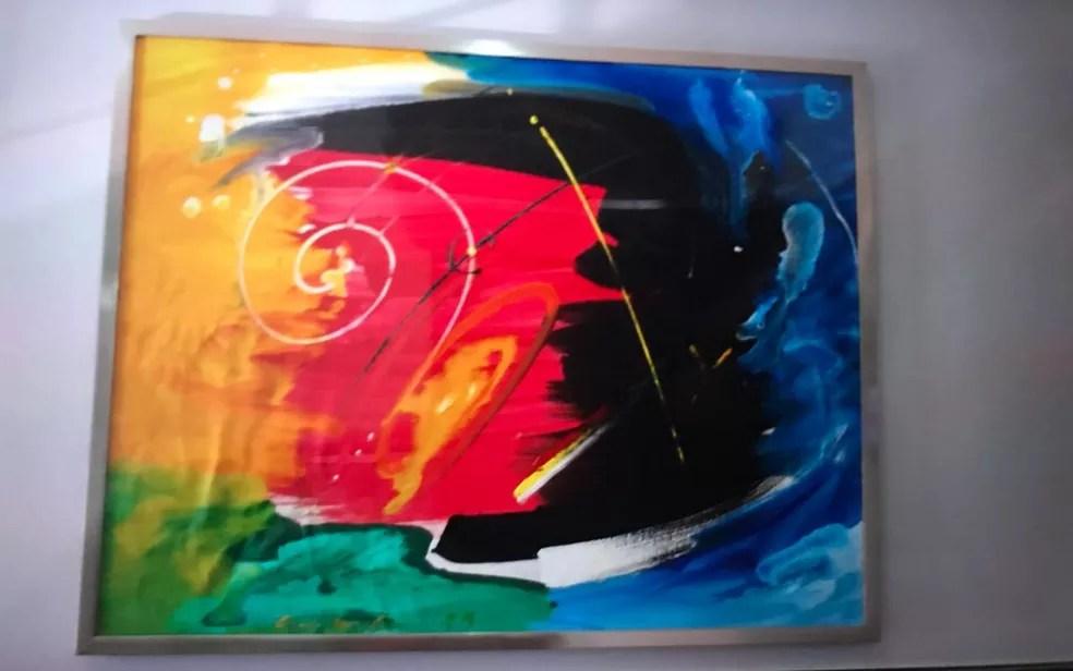 Foragido pintava e vendia quadros — Foto: Divulgação