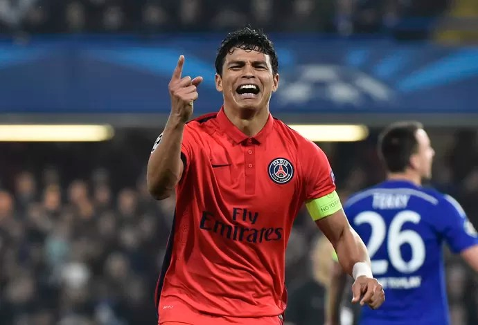 Thiago Silva Chelsea x PSG (Foto: Reuters)