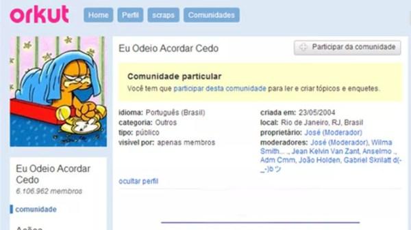 Grupo mais famoso do Orkut foi revivido na nova plataforma — Foto: Reprodução/Hello