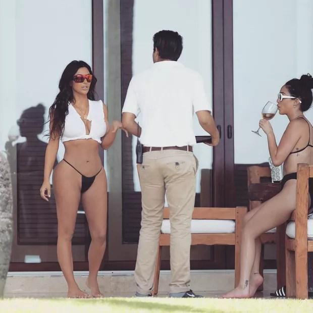 Kim Kardashian em foto no Instagram (Foto: reprodução/instagram)