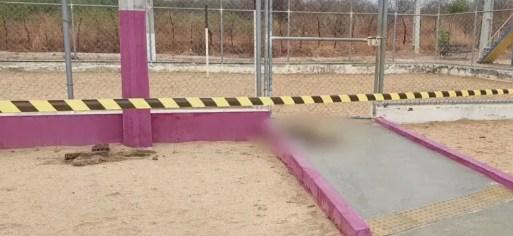 Cachorro morreu no trecho em que a menina tomou o choque em Mossoró — Foto: Reprodução/Inter TV Costa Branca
