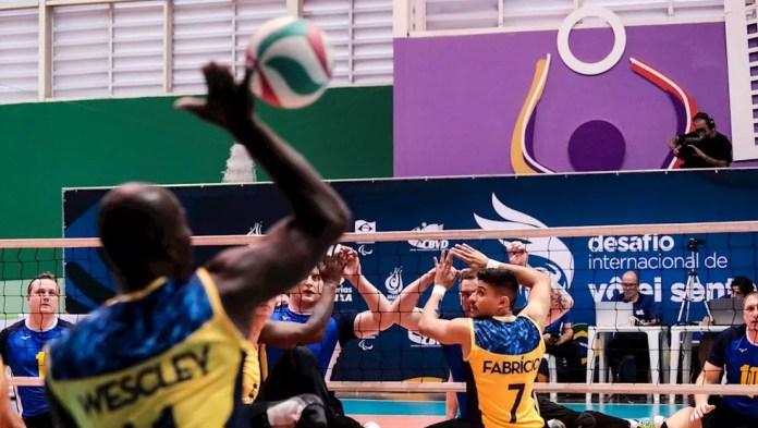 Seleção brasileira masculina de vôlei sentado — Foto: Alê Cabral/CPB