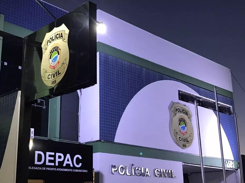 Caso foi registrado na Depac Centro, em Campo Grande. — Foto: Chico Gomes/TV Morena