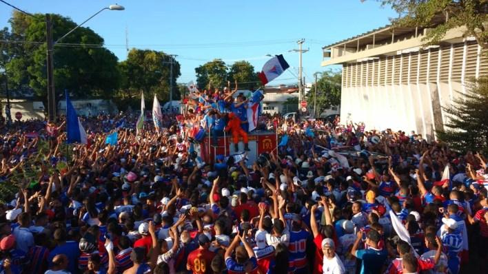Fortaleza conquistou o acesso à Série B (Foto: Juscelino Filho)