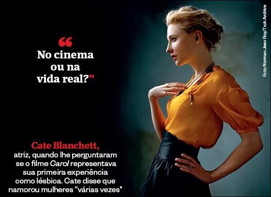 "Frases que resumem a semana | Cate Blanchett: ""No cinema  ou na  vida real?"" (Foto: Norman Jean Roy/Truk Archive)"