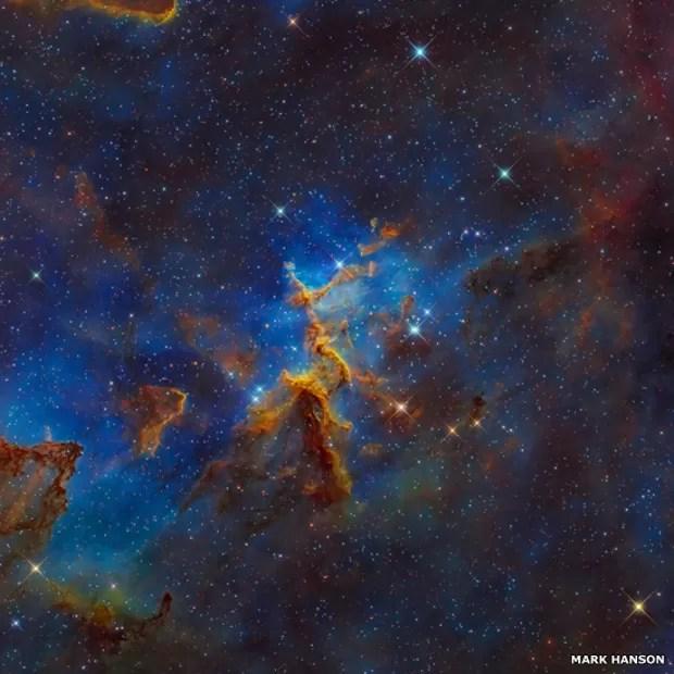 Esta imagem de Mark Hanson é a Nebulosa do Coração, IC 1805, Sh2-190, que fica a cerca de 7,5 mil anos-luz de distância da Terra na constelação de Cassiopeia (Foto: Mark Hanson)