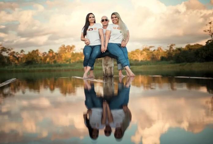 Alda Nery, Erisson Melo e Darlene Oliveira estão há quase um ano em um relacionamento e comemoram, neste sábado (12) — Foto: Daniel Cruz/Arquivo pessoal