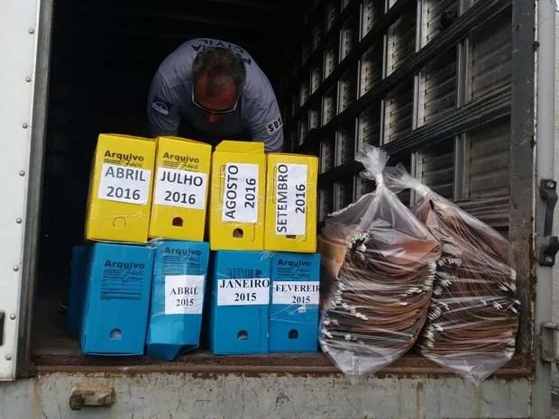 Apreensões da Operação Caixa de Pandora (Foto: Marlon Costa/Pernambuco Press)