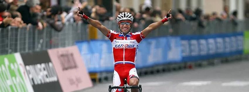 Purito comemorando vitória no Giro de Itália
