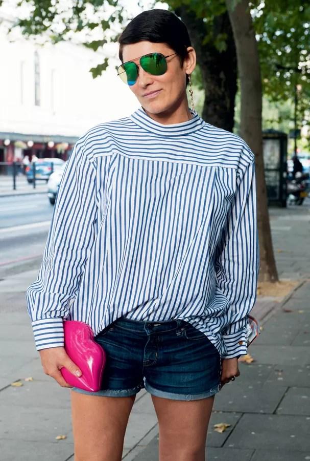 A tendência também bombou nas ruas na semana de moda londrina (Foto: Imaxtree)