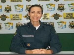 Capitã Patrícia Bispo de França Góis é a nova comandante da CPRv em Sergipe (Foto: Reprodução/TV Sergipe)