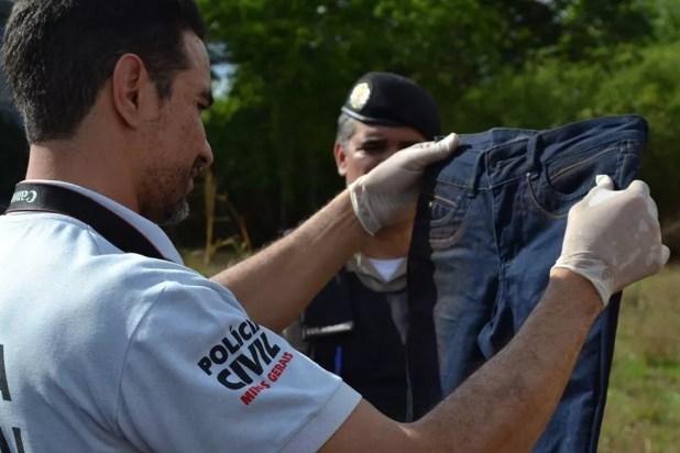Calça de Kelly Cristina Cadamuro foi encontrada suja e amassada (Foto: Samir Alouan/Rádio 97 FM/Pontal Online)