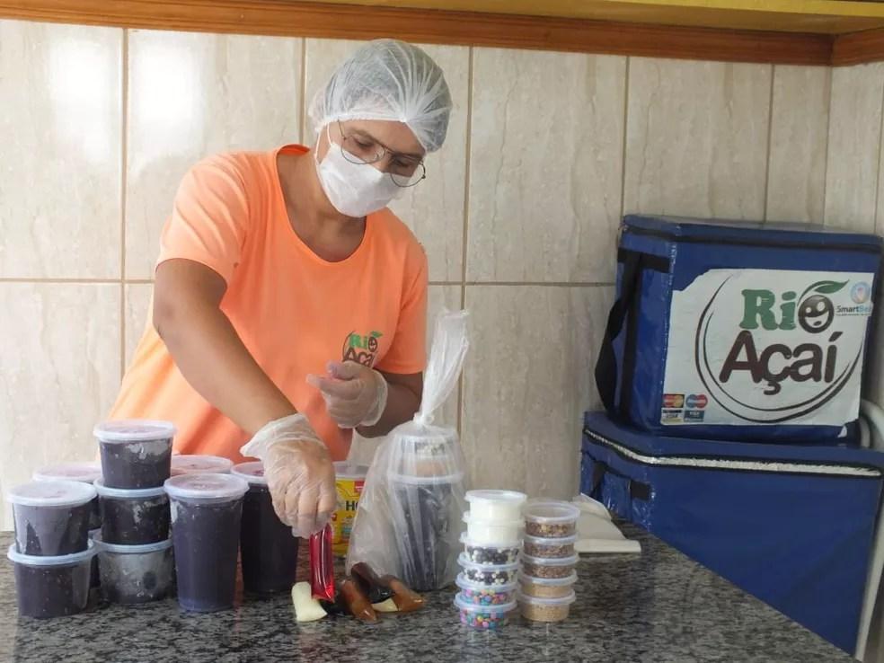 Produção da Rio Açaí, que viu cair as vendas durante a pandemia — Foto: Divulgação