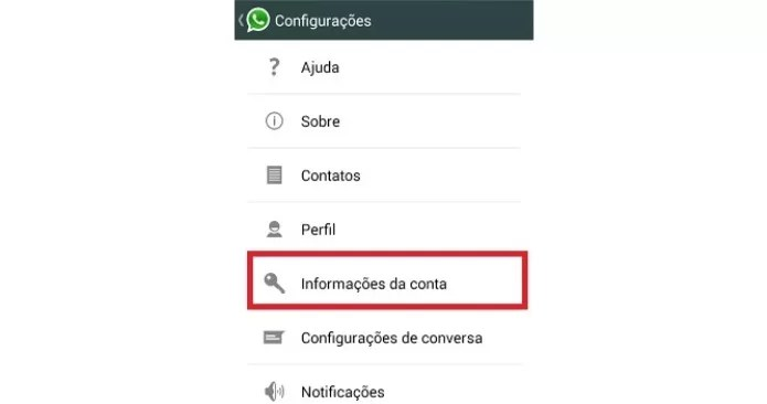 Configurações do aplicativo WhatsApp (Foto: Reprodução/Lívia Dâmaso)