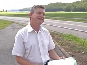 Ambientalista Hélder Wuo, de Salesópolis (Foto: Reprodução/ TV Diário)