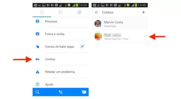Escolhendo uma segunda conta do Facebook Messenger para Android (Foto: Reprodução/Marvin Costa)