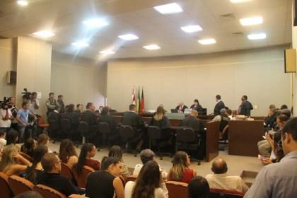 Júri popular do caso Rebeca foi formado por quatro homens e três mulheres, em João Pessoa — Foto: Dani Fechine/G1
