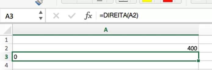 Fórmula para alinhar o conteúdo para direita ou esquerda (Foto: Reprodução/André Sugai)
