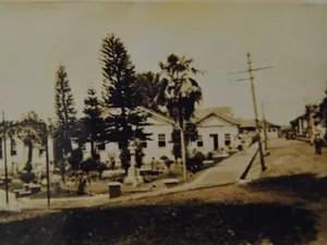 Fotografia que mostra a vila de Três Pontas (Foto: Arquivo Associação Padre Victor)