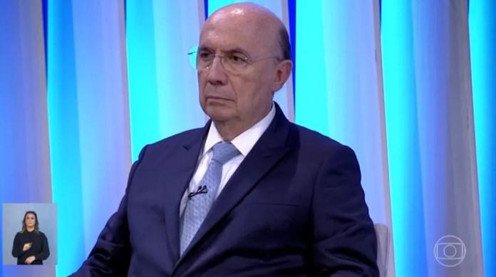 O candidato do MDB à Presidência, Henrique Meirelles, no debate da Rede Globo — Foto: Reprodução