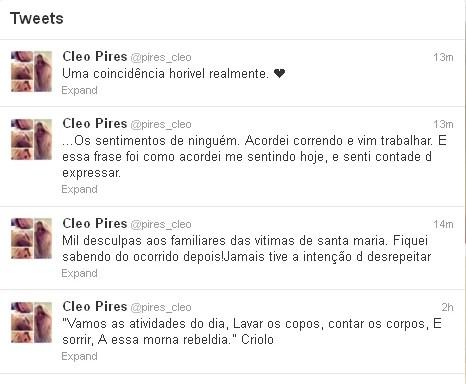 Cléo Pires posta frases no twitter (Foto: Reprodução / Twitter)
