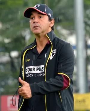 Ricardo Gomes fechou treino do São Paulo desta terça-feira (Foto: Érico Leonan / saopaulofc.net)