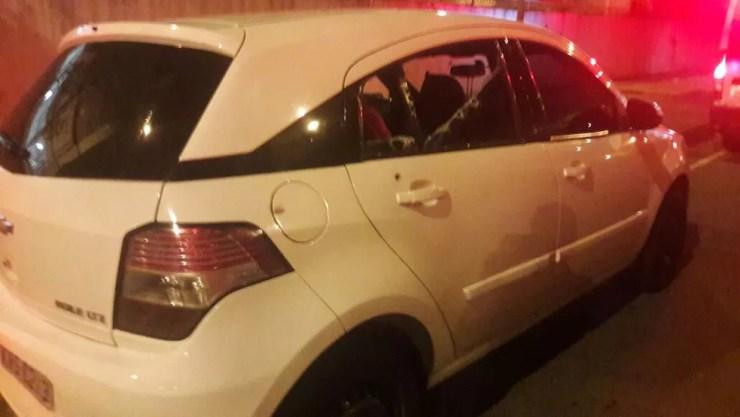 Carro em que Marielle estava quando foi baleada — Foto: Divulgação