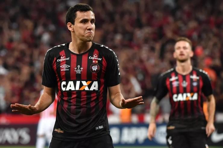 Pablo marcou 18 gols pelo Athletico-PR nesta temporada — Foto: Divulgação / Conmebol
