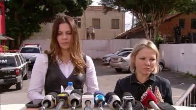 Promotoras do caso Neymar falam com a imprensa — Foto: TV Globo/Reprodução