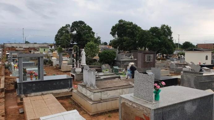 Cemitério de Jaru.  — Foto: Portal P1/Reprodução