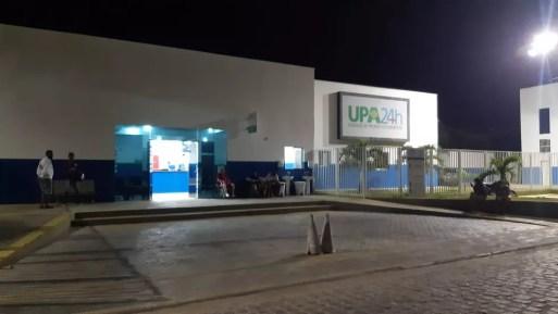UPA de São José de Mipibu suspendeu atendimento por falta de oxigênio na noite de domingo (14).  — Foto: Sérgio Henrique Santos/Inter TV Cabugi