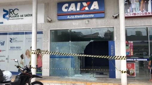 Unidades bancárias também foram alvo de criminosos neste últimos dias (Foto: Italo Di Lucena/Inter TV Cabugi)