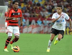 Luiz Antonio Flamengo x Atlético-PR (Foto: Alexandre Vidal / Flaimagem)