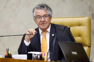 Ministro Marco Aurélio Mello durante sessão do Supremo Tribunal Federal  — Foto: Rosinei Coutinho/STF