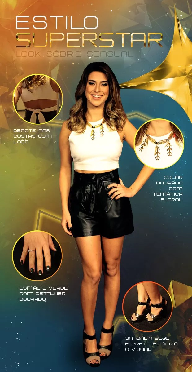 Look Fernanda Paes Leme (Foto: SuperStar / TV Globo)