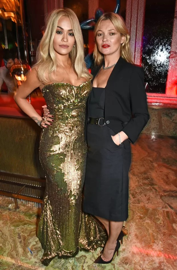 Rita Ora e Kate Moss (Foto: Agência Getty Images)