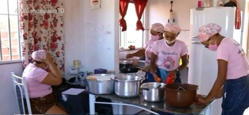 Família consegui multiplicar o dinheiro do auxílio — Foto: Reprodução/TV Anhanguera