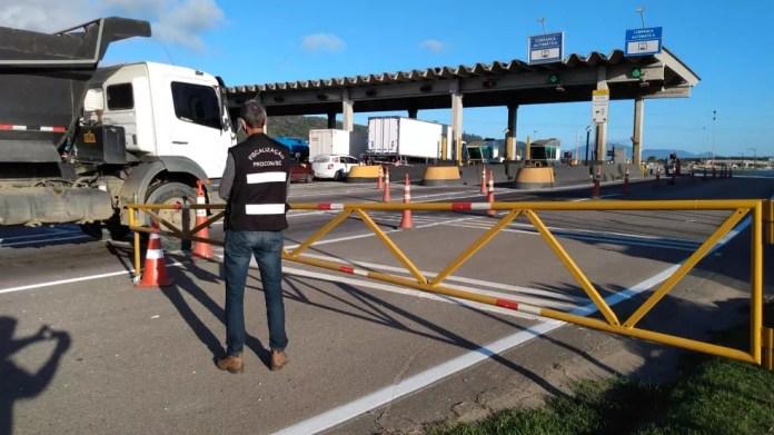 Procon de Sc notificou concessionária da BR-101 para evitar aumento de tarifa — Foto: Procon/Divulgação